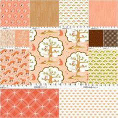 Les Amis Fat Quarter Bundle in Girl: I like the boy prints too... I'd love to make sweet dresses from these!