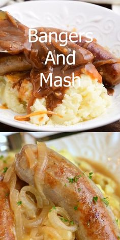 Pork Recipes, Mexican Food Recipes, Vegetarian Recipes, Dinner Recipes, Cooking Recipes, Ethnic Recipes, Sausages In Onion Gravy, Sausage Gravy, Dinner Dishes