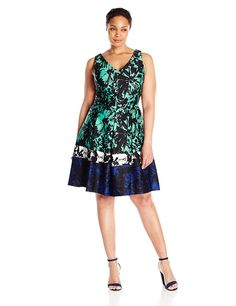 Taylor Dresses Women's Plus-Size Jacquard Floral-Print Dress * Don't get left behind, see this great  product : Plus size evening gowns