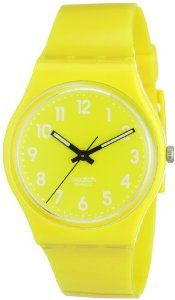 Discount Swatch Women's GJ128 Quartz Yellow Dial Plastic Watch Great deals every day - http://greatcompareshop.com/discount-swatch-womens-gj128-quartz-yellow-dial-plastic-watch-great-deals-every-day