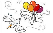 Jogos de pintar online para crianças: Duende Voador