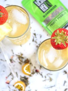 Refresh and rehydrate with this pineapple-infused Fruity Green Tea Spritzer! Healthy Juice Recipes, Juicer Recipes, Healthy Juices, Healthy Drinks, Detox Juices, Snacks Recipes, Detox Drinks, Salad Recipes, Healthy Snacks