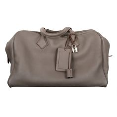 0388243b1c6e Hermes victoria travel bag 43cm etain gorgeous clemence phw