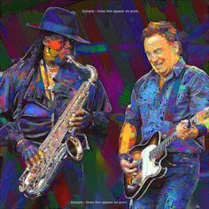 BRUCE SPRINGSTEEN Clarence CLEMONS  Large Rock and by EisnerArt