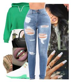 """""""SLAYYY TODAY"""" by juske ❤ liked on Polyvore featuring Boohoo"""