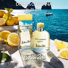 A fresh twist is added to the iconic Light Blue and Light Blue Pour Homme scents with a new Limited Edition: Italian Zest, inspired by Italian scorza di limone - lemon zest. Discover the new Mediterranean scent. Cleopatra Beauty Secrets, Diy Beauty Secrets, French Beauty Secrets, Beauty Tips For Skin, Skin Care Tips, Beauty Products, Light Blue Dolce Gabbana, Dg Light Blue, Ancient Beauty