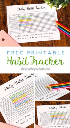 I don't know about you, but I'm always trying to improve my productivity, keep things more organized, and remember to do new tasks. This printable habit tracker (you could also call it a daily goal tracker), might be just the thing that we need. I don't know how coloring in a little box can be so motivating,...