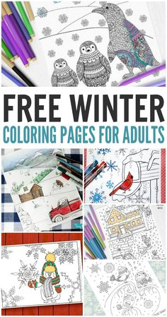 Free Winter Coloring Pages for Adults