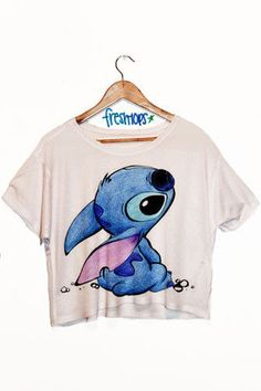 """Lilo and Stitch"" Crop Top - Teen Fashion - follow @Christina Childress Childress Childress Spencer Fashion"