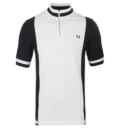 Buy your Fred Perry Bradley Wiggins Black & White Contrast Panel Polo Shirt from Woodhouse Clothing - bringing you the latest in men's fashion. Mens Fashion Casual Wear, Bradley Wiggins, Fred Perry Polo, Cycling Tops, Man About Town, Mod Fashion, Mod Dress, Polo T Shirts, Cycling Outfit