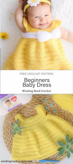 Simply Spring Baby Dress 6 18 Months Winding Road Crochet Quick and easy crochet baby dress pattern This free crochet pattern by Winding Road Crochet is great for beginners crochetpattern babycrochet forbeginners free Best Picture Crochet Baby Dress Free Pattern, Baby Girl Dress Patterns, Baby Clothes Patterns, Baby Girl Crochet, Newborn Crochet, Baby Patterns, Crochet Baby Stuff, Crochet Dress Girl, Coat Patterns