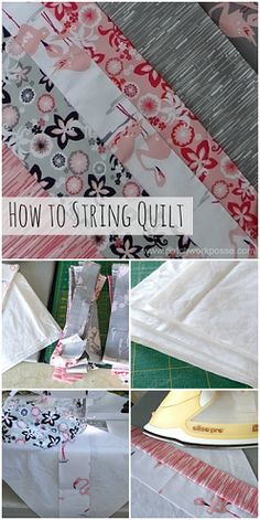 How to Sew a String Quilt submitted to InspirationDIY.com