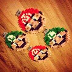 Mario and Luigi Christmas baubles hama beads by kunduzcum