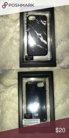 Case Study 6/6S/7 Marble Case Black and White Marble Design, Protective, Fits iPhone 6,6s, and 7. Never used. Case Study Accessories Phone Cases