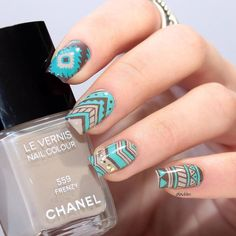 6 Trendy Tribal Nail Art Ideas | trends4everyone