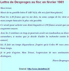 Lettre à Mon Trésor de Pierre Desproges
