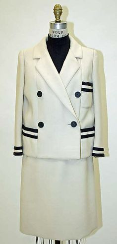 Suit spring/summer 1968 Norman Norell