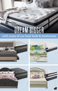 Master the art of sleep with our vast selection of beautiful bedrooms and awesome mattresses, including brands like Beautyrest and iComfort!