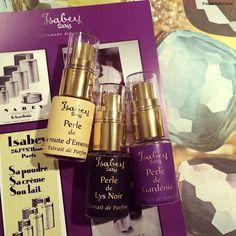 """ISABEY PARIS and the fab """"Collection Rare"""" with three Extrait de Parfum. Les Trois Perles, rare pearls of luxury. Perle de Gardenia, Perle de Lys Noir, Perle de La Route d'Emeraude."""