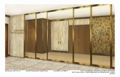 Exterior Illustration of London Associates 2: Illustration of the exterior of London Associates set for Columbia Pictures' AMERICAN HUSTLE.  Production Design by Judy Becker Photo by:  Illustration by Audra Avery