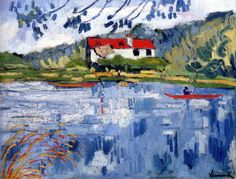 Maurice de Vlaminck (France 1876-1958), Sunny River With Boater (c. 1906), oil on canvas 50 x 65.2 cm