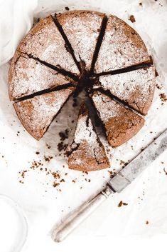 Čokoládovy koláč s olivovým olejom
