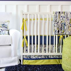 Caden Lane Baby Bedding - Ikat Citrus Boy Baby Bedding, $192.00 (http://cadenlane.com/ikat-citrus-boy-crib-bedding/)