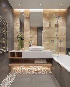 Luxury Bathroom Master Baths Walk In Shower is enormously important for your home. Whether you choose the Luxury Bathroom Master Baths Towel Storage or Luxury Master Bathroom Ideas, you will create th Bathroom Goals, Bathroom Spa, Bathroom Toilets, Bathroom Interior, Bathroom Ideas, Beige Bathroom, Bathroom Plants, Bathroom Designs, Bathroom Remodeling
