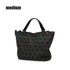 6217f98c607 2017 women bag female handbags designers Brand big European style luminous  tote fashion geometric laser ladies