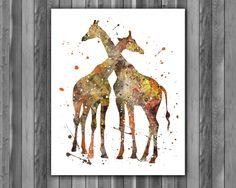 iraffes Animals art, Giraffes Animals art Print, Giraffes Animals Poster, Giraff