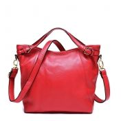 Pocketmall.com women's fashion simple and elegant genuine leather handbag crossbody bags