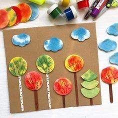 Autumn Crafts, Fall Crafts For Kids, Autumn Art, Diy For Kids, Kids Crafts, Diy And Crafts, Paper Crafts, Autumn Forest, Autumn Activities