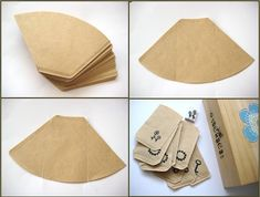 Tag envelopes - natural cone coffee filters