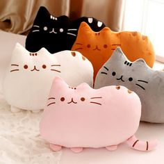 1pc 40*30cm New Cat Pusheen Pillow with Zipper Only Skin Biscuits Kids Toys Kawaii Kids Toys Cute Plush Cushion Brinquedos
