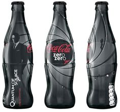 Coca Cola and Sony TV came together to promote James Bond's 'Quantum of Solace.' The bottle has lovely contours and imagery of Daniel Craig as 007