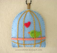 Felt Bird cage... too cute