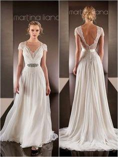 Perfect for a beach or boho wedding! Martina Liana Wedding Dresses | 2015 Wedding Dresses » KnotsVillawww.PartiesPearlsandBeingPrecious.com