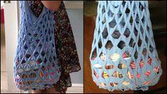 ARTESANATO COM QUIANE - Paps,Moldes,E.V.A,Feltro,Costuras,Fofuchas 3D: Sacola de supermercado feita de camiseta!__Shirt-Market-Bag - Easy and Super Low Sew