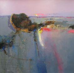 peterwilemanartist.co.uk Walltown Criags, Hadirans Wall, 30x30 oil on canvas