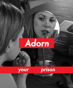 Adorn your prison, Barbara Kruger Alexander Rodchenko, Roy Lichtenstein, Andy Warhol, Barbara Kruger Art, Schmidt, Wort Collage, Protest Art, Famous Artwork, Feminist Art