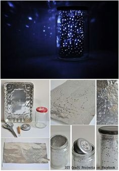 What a cool idea. Home Crafts, Diy And Crafts, Crafts For Kids, Arts And Crafts, Constellation Jar, Debut Planning, 11th Birthday, Simple Art, Easy Art