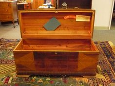 Vintage Lane cedar chest. It is presently full of stuffed animals. It is not something that I would have bought new.