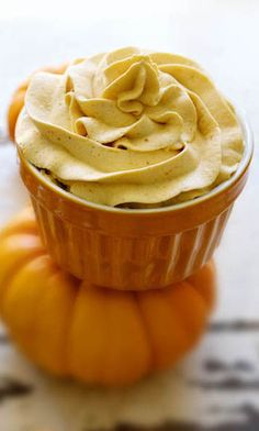 Chocolate Cupcakes with Pumpkin Whipped Cream by Family Fresh Cooking