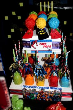 Superhero Cake Pops & Chocolate Covered Twinkies
