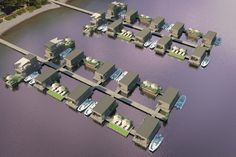 Abifloat features a cluster of ten homes, measuring 6.5 m by 3.25 m (21 ft x 11 ft) that b...
