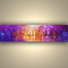 Original Palette Knife Painting New York City Art by OsnatFineArt, $385.00