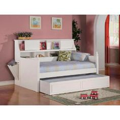 Check out the Coaster Furniture 300480 Daisy Twin Bookcase Daybed in White priced at $759.60 at Homeclick.com.