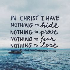 In Christ, I have all I need