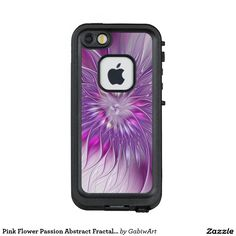 Pink Flower Passion Abstract Fractal Art LifeProof® FRĒ® iPhone 5 Case