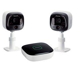 Panasonic Home Monitoring System Diy Surveillance Camera Kit - White (KX-HN6002W)